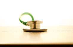 Medical stethoscope and technology concept. Royalty Free Stock Image