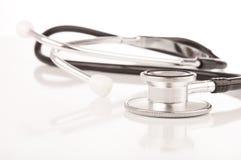 Medical stethoscope on white background Stock Images