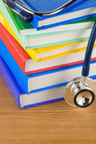 Medical Stethoscope With Book Stock Photo