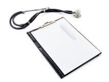 Medical stetoscope isolated on white Stock Photography
