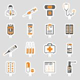 Medical sticker icons set Royalty Free Stock Photo