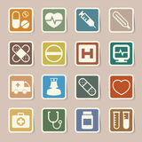 Medical sticker icons set, . Illustration Royalty Free Stock Photos