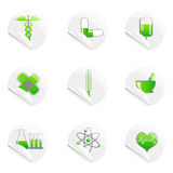 Medical sticky icon Royalty Free Stock Photos