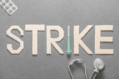 Medical strike Royalty Free Stock Photos