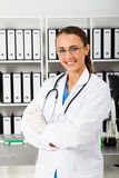 Medical student. Young happy medical student in office Stock Photography