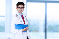 Medical student in the clinic Royalty Free Stock Photos