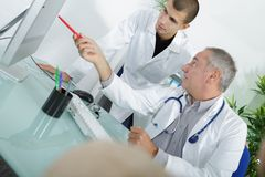 Medical student during lecture. Medical student during a lecture Stock Image