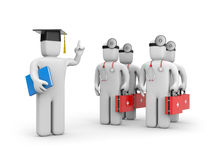 Medical student and lecturer or academic Royalty Free Stock Image