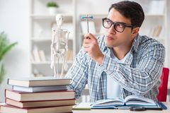 The medical student sitting at the lecture in university. Medical student sitting at the lecture in university royalty free stock photos