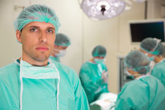 Medical student in surgical gear Stock Images