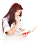 Medical student woman with book Stock Image