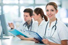 Medical students Royalty Free Stock Photos
