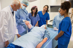 Medical students learning from professor Stock Photo