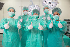 Medical students in operating theater Stock Images