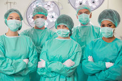 Medical students in operating theater Royalty Free Stock Photo