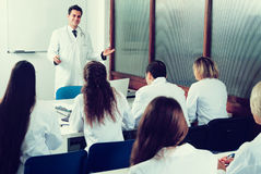 Medical students sitting in audience Royalty Free Stock Photography