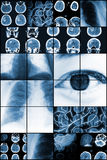 Medical study results in mosaic background Stock Image