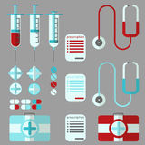 Medical stuff set Royalty Free Stock Photo