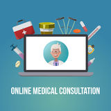 Medical Style Poster Stock Images