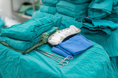 Medical suite prepare for operation Royalty Free Stock Photo