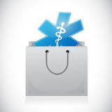 Medical supplies on a box. illustration design Stock Photo