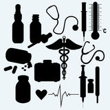 Medical supplies and equipment Royalty Free Stock Photo