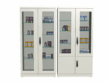 Medical supply cabinet Stock Photo