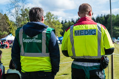 Medical support team at a sport event Stock Photo