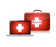 Medical support technology illustration design Stock Images