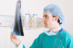 Medical surgeon. Young male medical surgeon in hospital Stock Photography