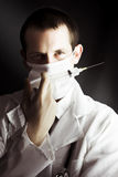 Medical surgeon with prescribed medicine injection Stock Photos