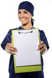 Medical Surgeon Show Blank Clipboard Stock Photography