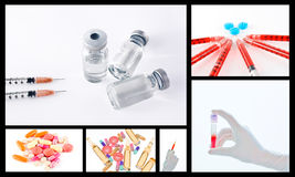 Medical surgical drug collage Royalty Free Stock Image