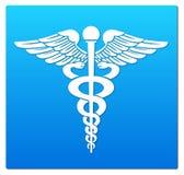 Medical symbol. In blue background Stock Images