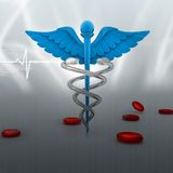 Medical symbol. Digital illustration of medical symbol in abstract background Stock Images