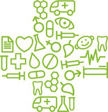 Medical symbol. In the form of a cross Stock Images
