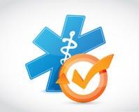 Medical symbol and check mark cycle Royalty Free Stock Photos