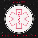 Medical symbol of the Emergency - Star of Life icon. Graphic element for your design Stock Images