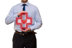 Medical symbol in the hands Royalty Free Stock Images