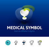 Medical symbol icon in different style Royalty Free Stock Images