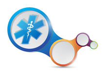 Medical symbol and infographic illustration Stock Photo