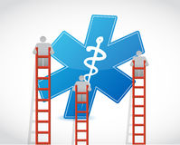Medical symbol and ladder illustration Royalty Free Stock Photography