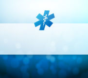 Medical symbol and lights illustration Royalty Free Stock Photography
