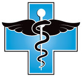 Medical Symbol. A medical medicine symbol logo or icon Stock Photography