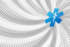 Medical symbol over a blank design layer Stock Image