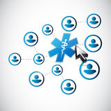 Medical symbol people diagram links concept Royalty Free Stock Image