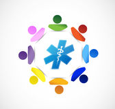 Medical symbol people diversity concept Stock Photos