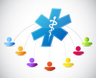 Medical symbol people links concept Stock Photography
