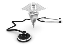 Medical symbol with Stethoscope Royalty Free Stock Images