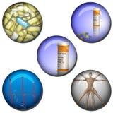 Medical symbol Web Buttons Royalty Free Stock Photos